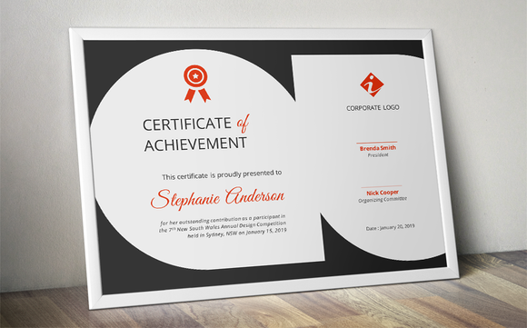 Tear Drops Certificate Template By Inkpower On @creativemarket