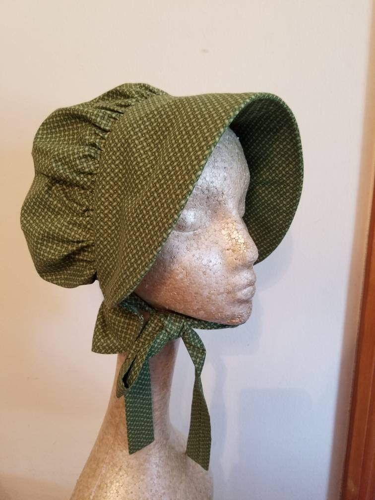 Calico pioneer bonnets.