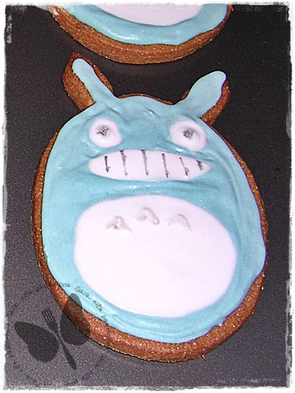 Biscotti decorati con ghiaccia reale: Totoro