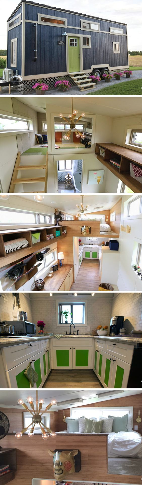The bohemian escape  sq ft tiny house designed and built on show nation minus green cabinets also best images diy decoration crafts creative decor rh pinterest