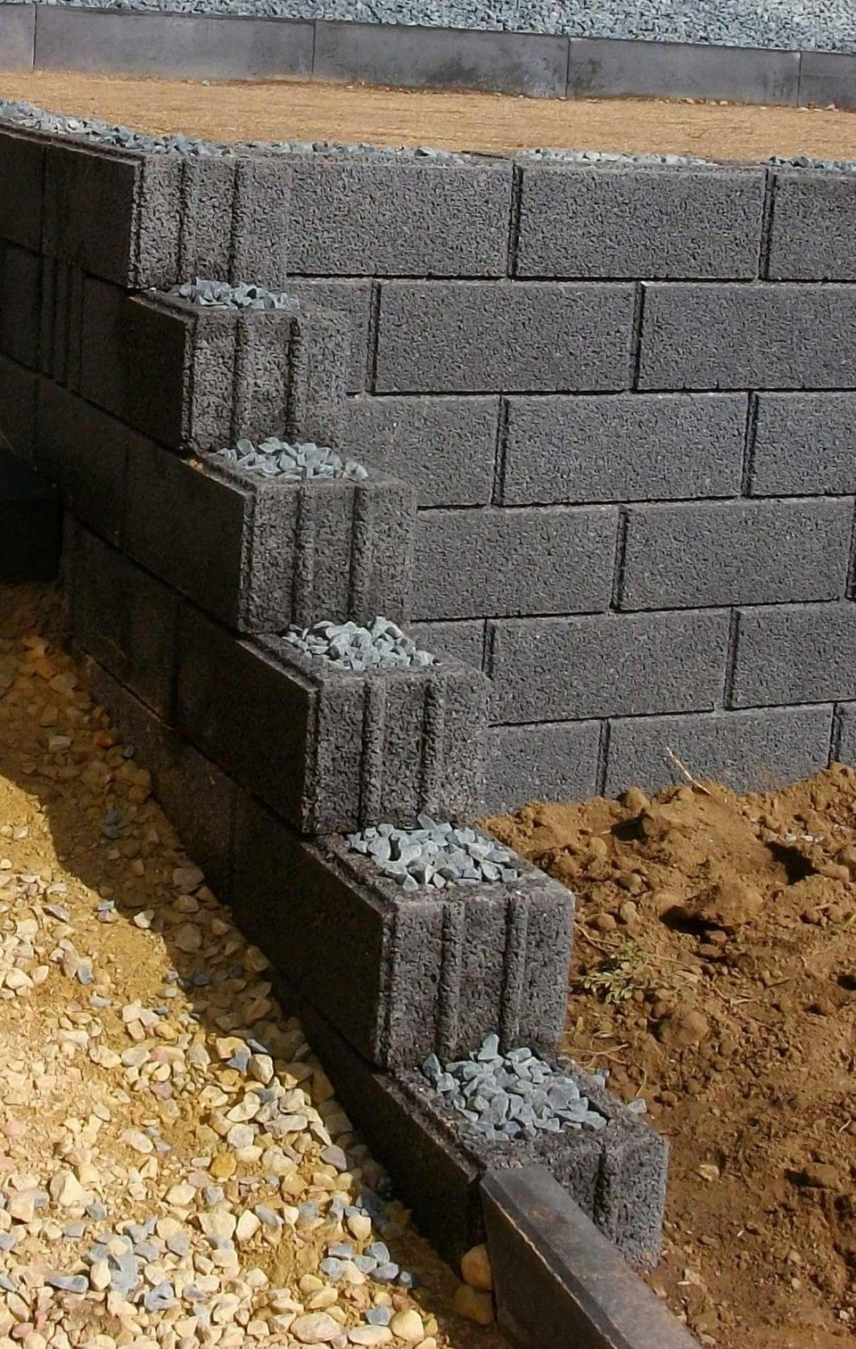 Diese Klassische Gartenmauer Mit Umlaufenden Scheinfugen Eignet Sich Auch Zur Hangbefestigung Gartenmauer Steinmauer Garten Ummauerter Garten