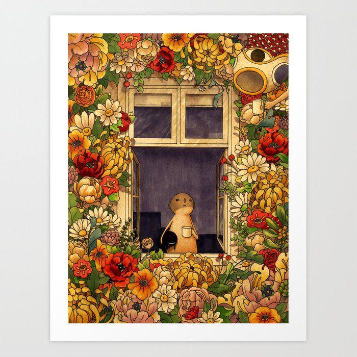 Flower Garden Art Print by Felicia Chiao - X-Small