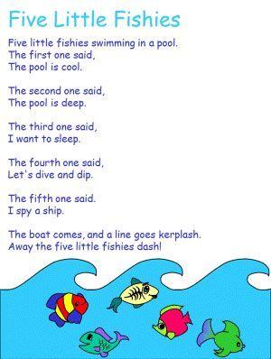 Five Little Fish Preschool Kindergarten Songs Ocean
