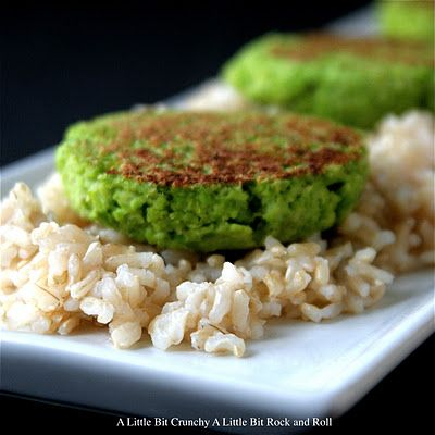 A Little Bit Crunchy A Little Bit Rock and Roll: Edamame Cakes with Soy Drizzling Sauce