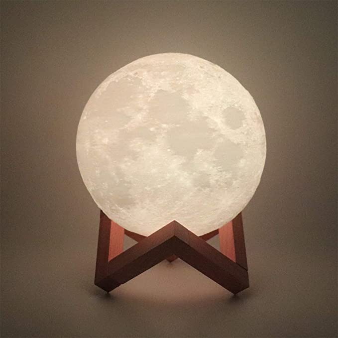 Hguangs Moon Lamp 5 9 Inch 16 Colors 3d Printed Moon Light Remote Touch Control And Usb Rechargeable Gifts For Christmas Decor In 2020 Christmas Decorations Decor Lamp