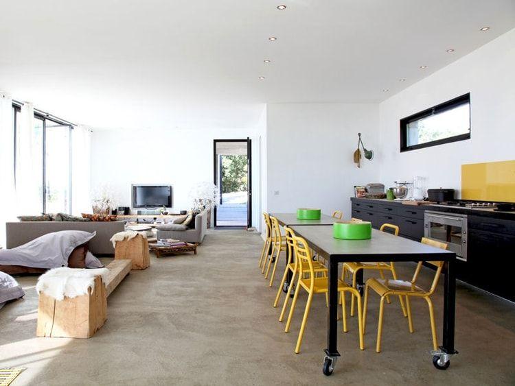 Une cuisine ouverte en longueur Maison Pinterest