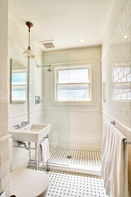Another Good Layout For A Small Bathroomnatural Light Is Awesome Bathroom Tiles For Small Bathrooms Decorating Inspiration