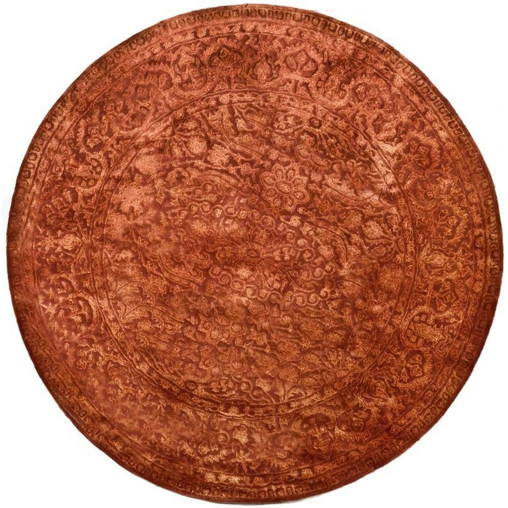 Safavieh Silk Road Rust 3 Ft 6 In X Round Area Rug Skr213e 4r The Home Depot