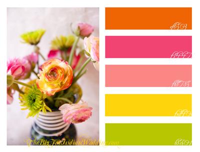 Pink Orange Color Palette