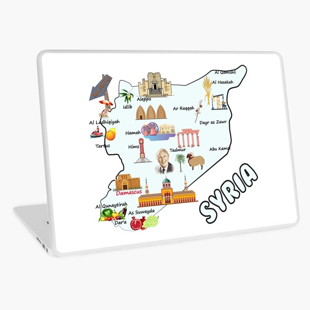 Syria Map Major Cities Names Flag Syrian National Symbols And Landmarks خريطة سوريا مع اهم المدن واهم المعالم الاقتصادية والاجتماعية والسياحية Macbook Air 13 National Symbols Syria Map Aleppo