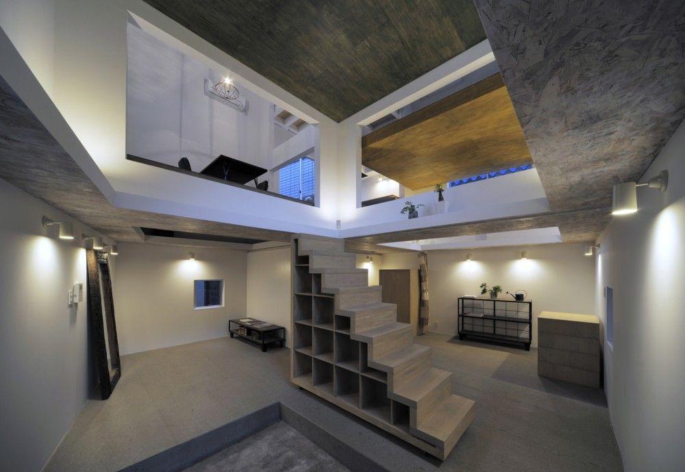 opbergruimte onder de trap Hiroyuki Shinozaki Architects - HouseT, Tokyo, Japan (2012) #house