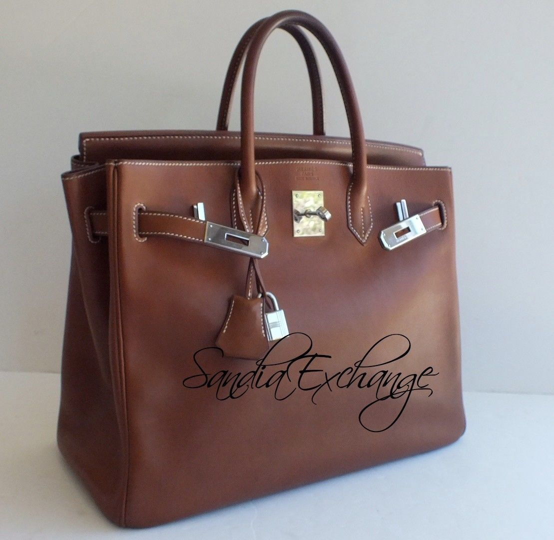 45817f7dc899 Authentic HERMES Birkin HAC 32 cm Natural Barenia Palladium Hardware D stamp