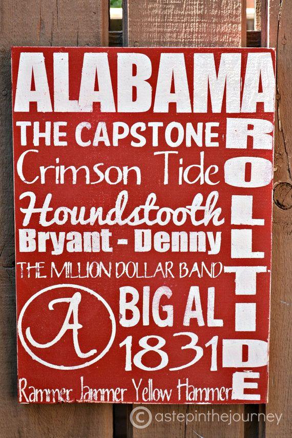 Alabama Crimson Tide Subway Art by astepinthejourney on Etsy, $35.00