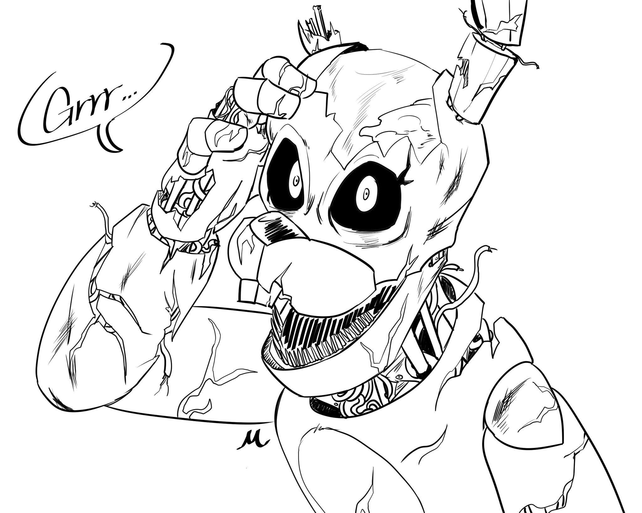 Pin By Funtime Foxy On Fnaf Fnaf Coloring Pages