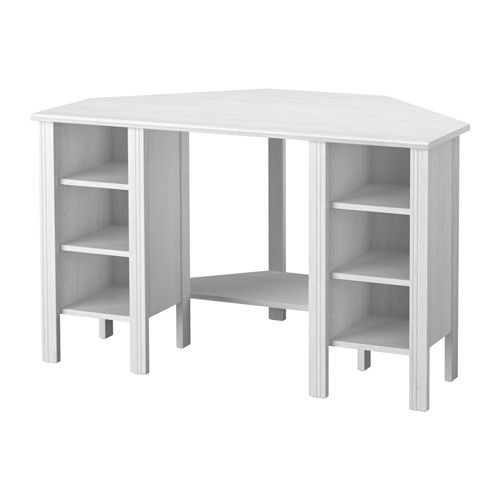 brusali bureau d 39 angle blanc ikea pinterest espace de placards les tablettes et r glable. Black Bedroom Furniture Sets. Home Design Ideas