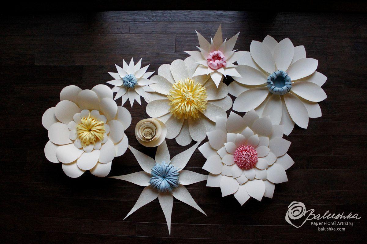 Lace Paper Flower Group 35000 Via Etsy Pinterest