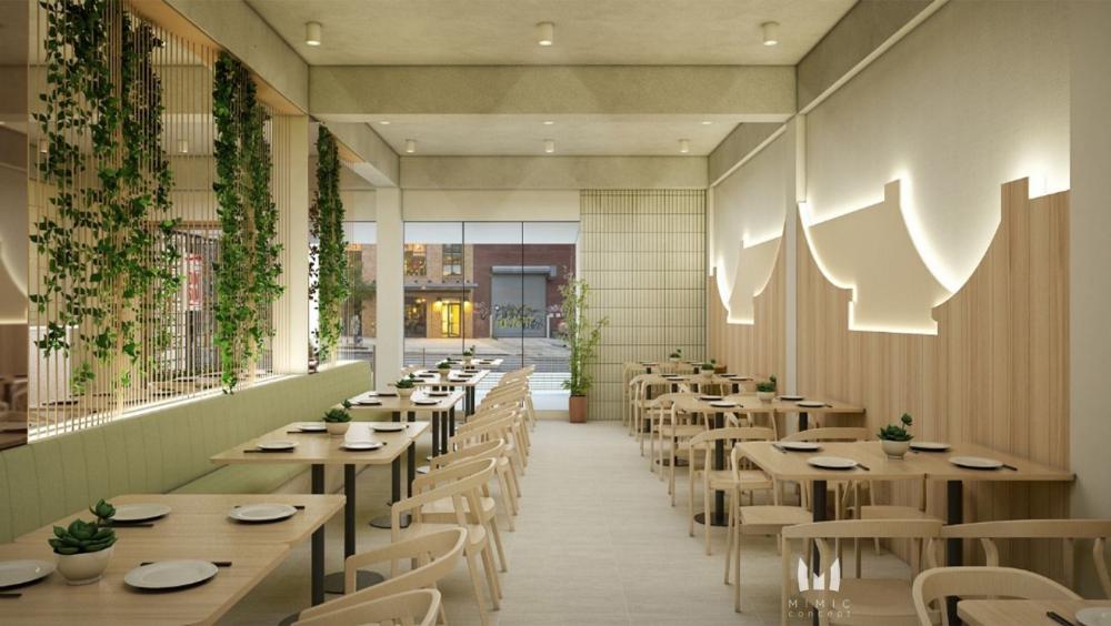 One Dimsum Restaurant Jakarta Utara Mimic Concept Restaurant Interior Restaurant Folder Design
