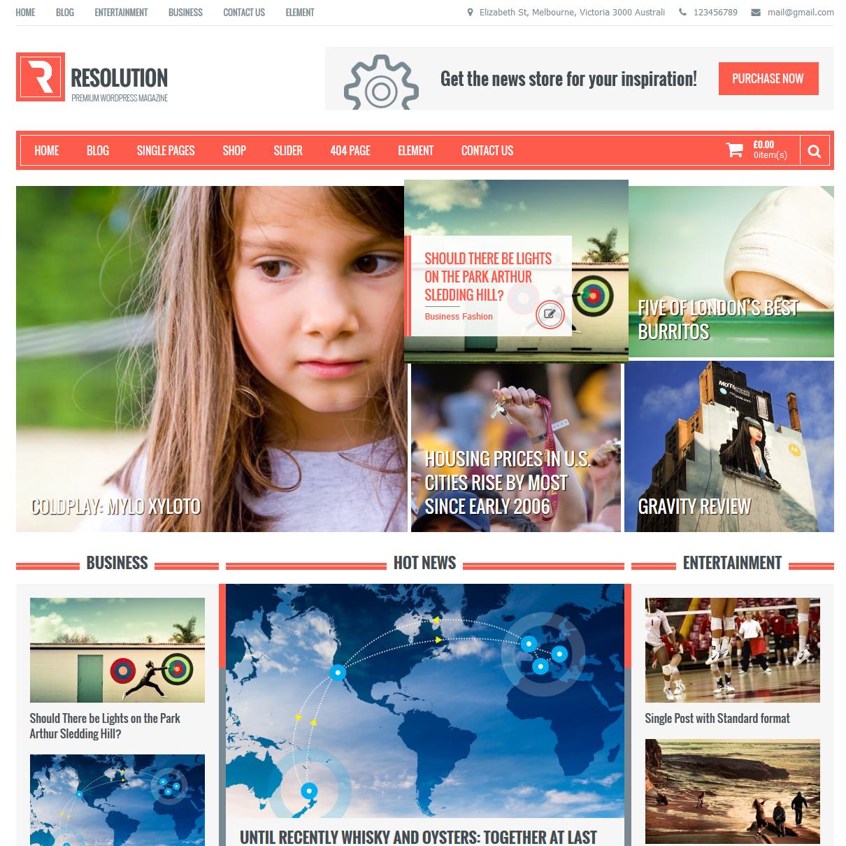 Resolution Multi Purpose WordPress Theme, #CSS3, #Web #Design, #Free ...