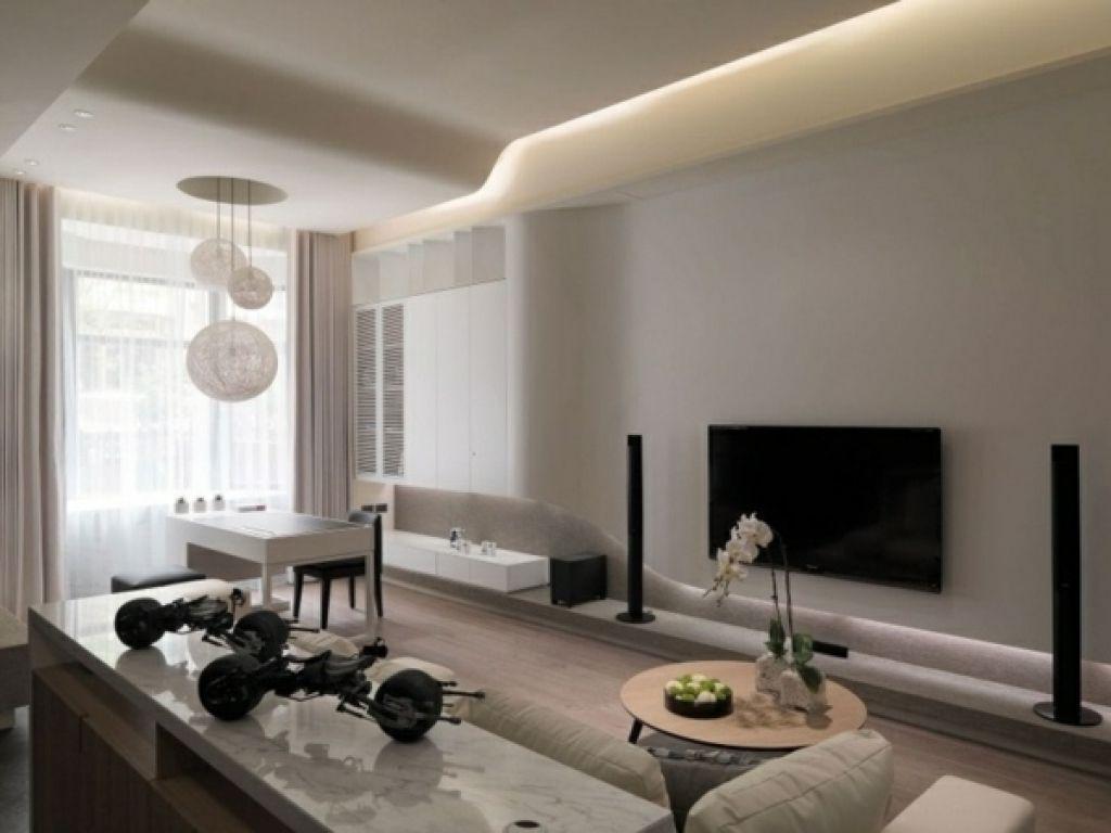Wohnzimmergestaltung Wand Beispiele  Wohndesign