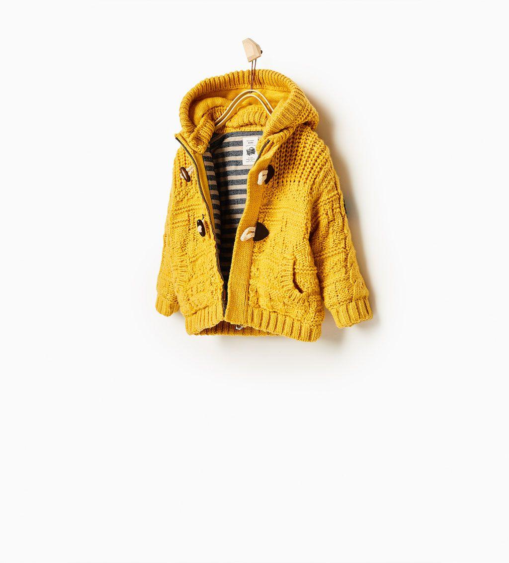Obrázok 1 z Úpletový sveter s kapucňou od spoločnosti Zara