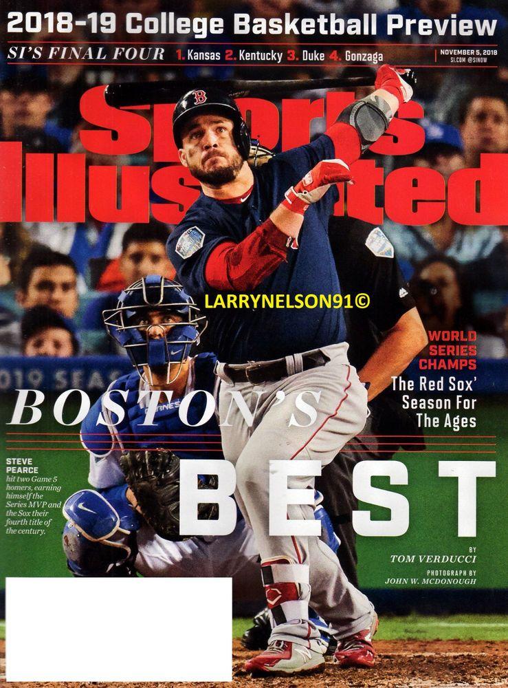 SPORTS ILLUSTRATED MAGAZINE NOVEMBER 5 2018 BOSTON RED SOX