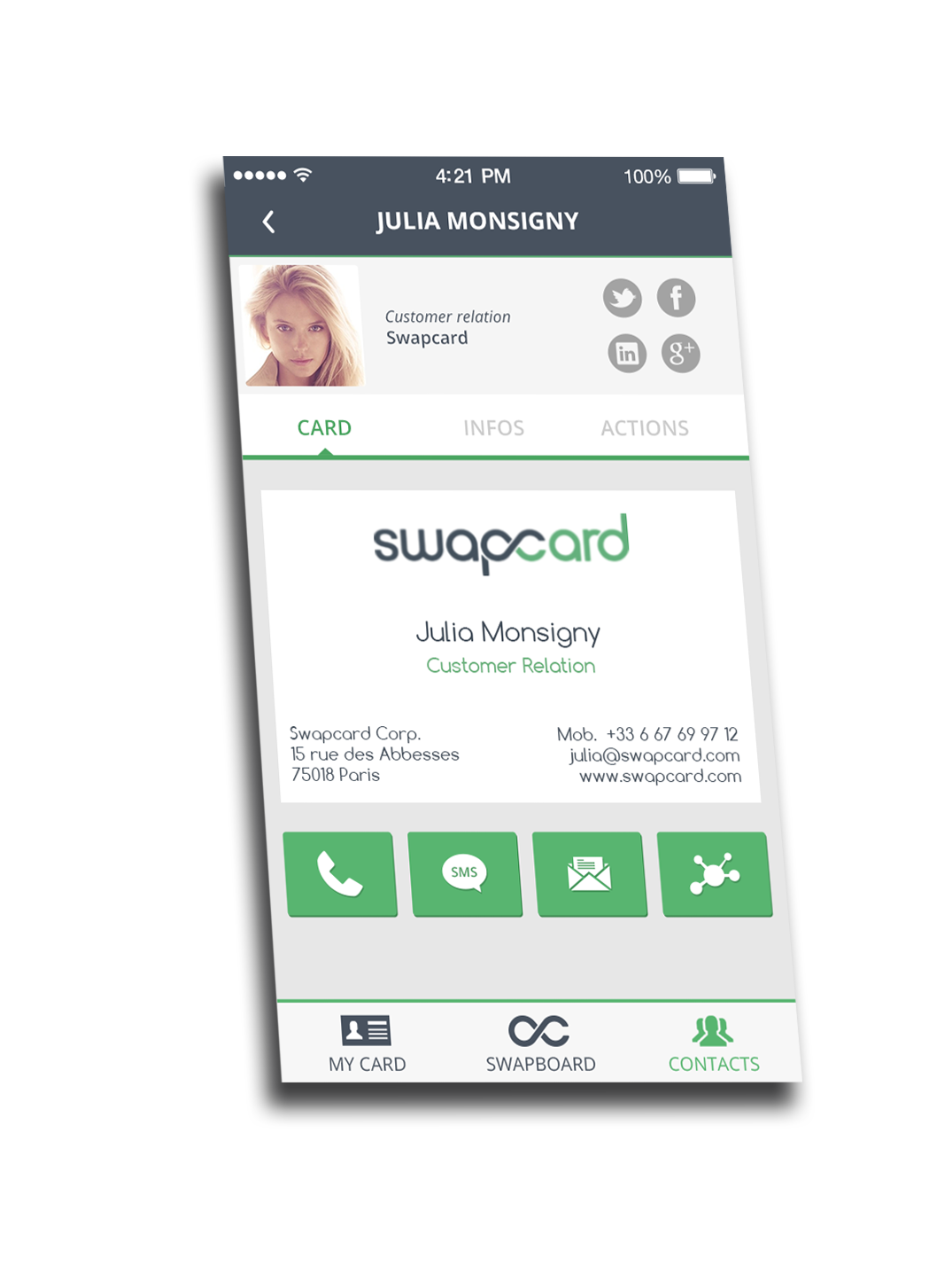 Swapcard Your Free Smart Business Card Smart Business Cards App