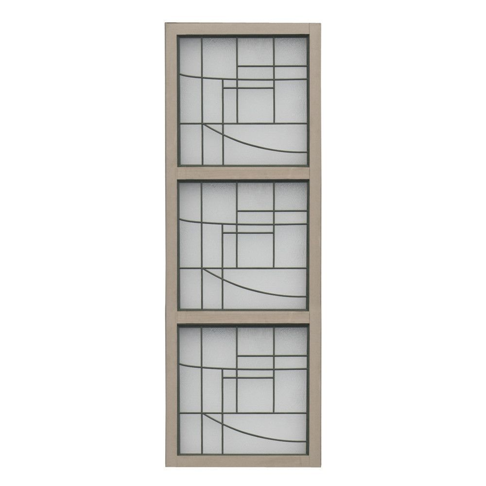 3 High Faux Glass Panel