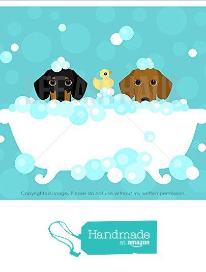 209d Two Dachshund Dogs In Bubble Bath Bathtub Unframed Wall Art Print By Lee Arthaus From Leearthaus Https Ww Dachshund Love Dachshund Dog Dachshund Cartoon