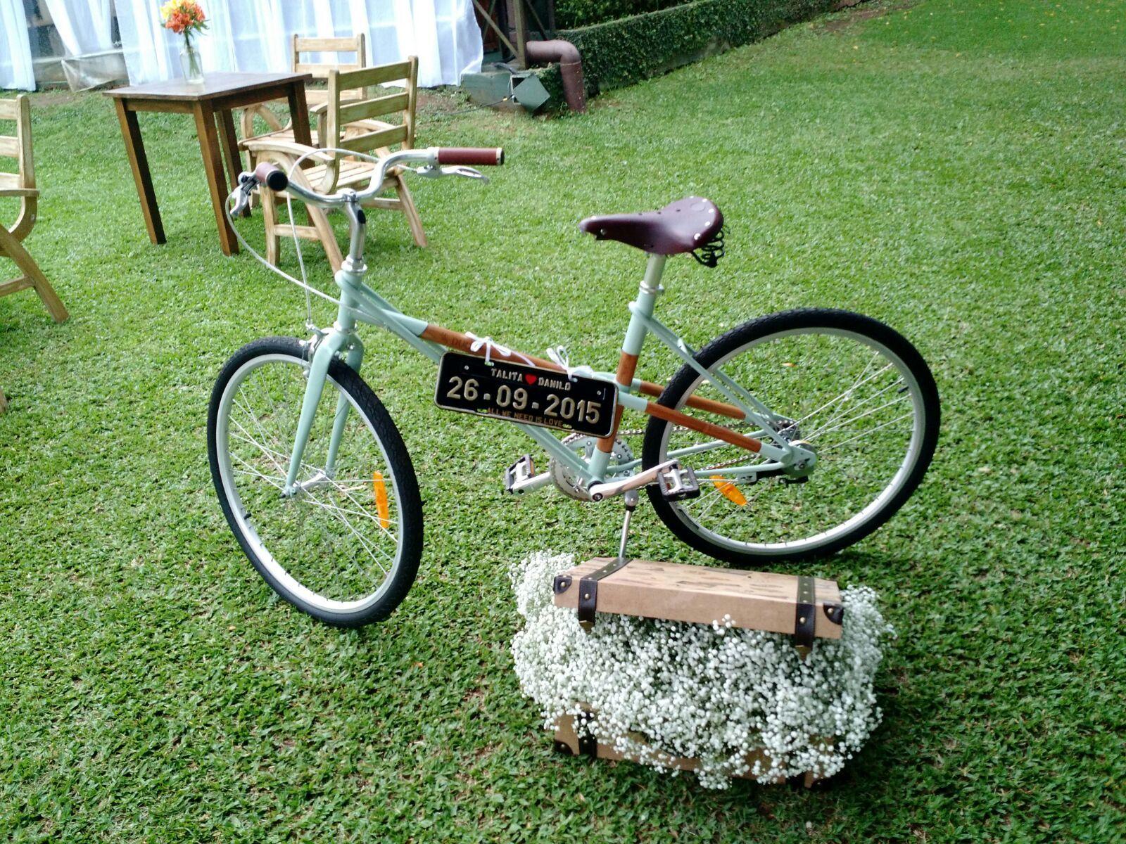 Bicicleta de Bambu, decoração maravilhosa