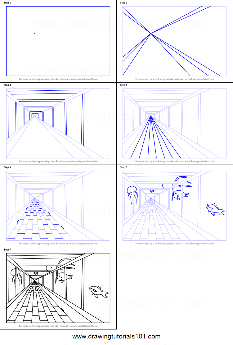 How to Draw One Point Perspective Aquarium printable step by step drawing sheet : DrawingTutorials1...#aquarium #draw #drawing #drawingtutorials1 #per...#aquarium #draw #drawing #drawingtutorials1 #drawingtutorials1aquarium #perspective #point #printable #sheet #step