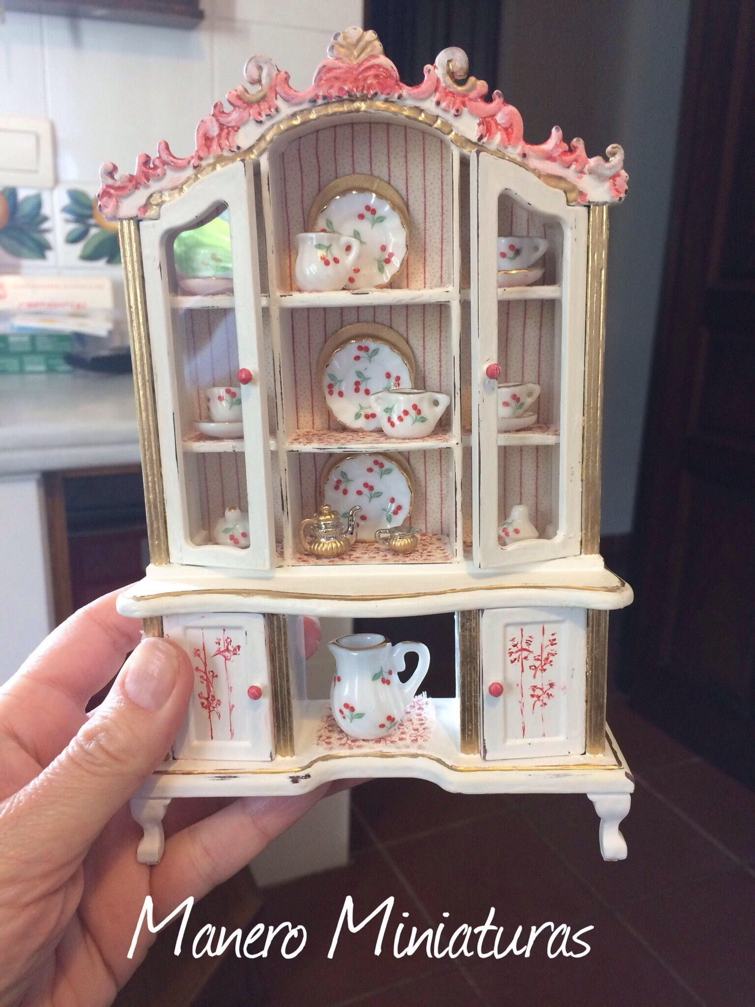 1:12 Cabinet for Dolls ' houses, miniature furniture, handicrafts #miniaturefurniture