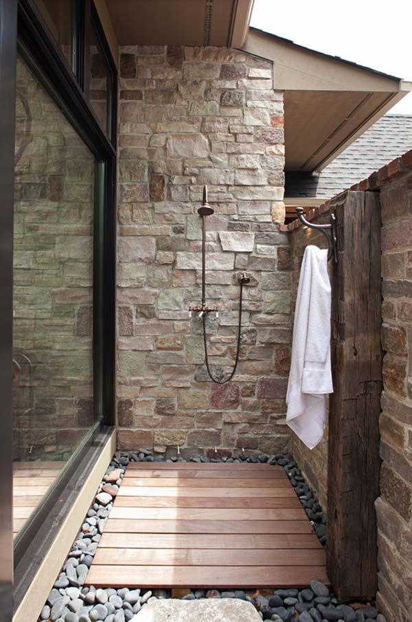 10 duchas al aire libre duchas ba os y ducha exterior for Ducha exterior piscina