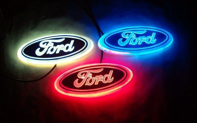 LED 4D WHITE RED BLUE Led FORD styling Logo REAR FRONT ...