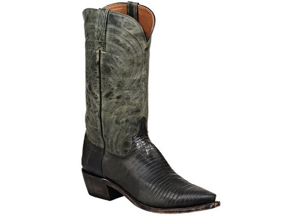 a827c3e99cd Shop New Lucchese M2903 Percy Mens Lizard and Mad Dog Goat Leather ...