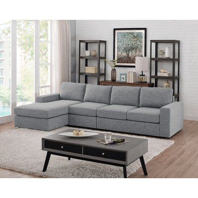 Ivy Bronx Cheryle Reversible Sectional In 2020 Livingroom Layout