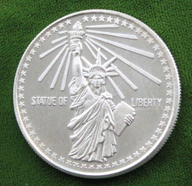 Statue Of Liberty 1 Oz Ounce 999 Fine Silver Coin Bullion Silver Coins Silver Bullion Coins