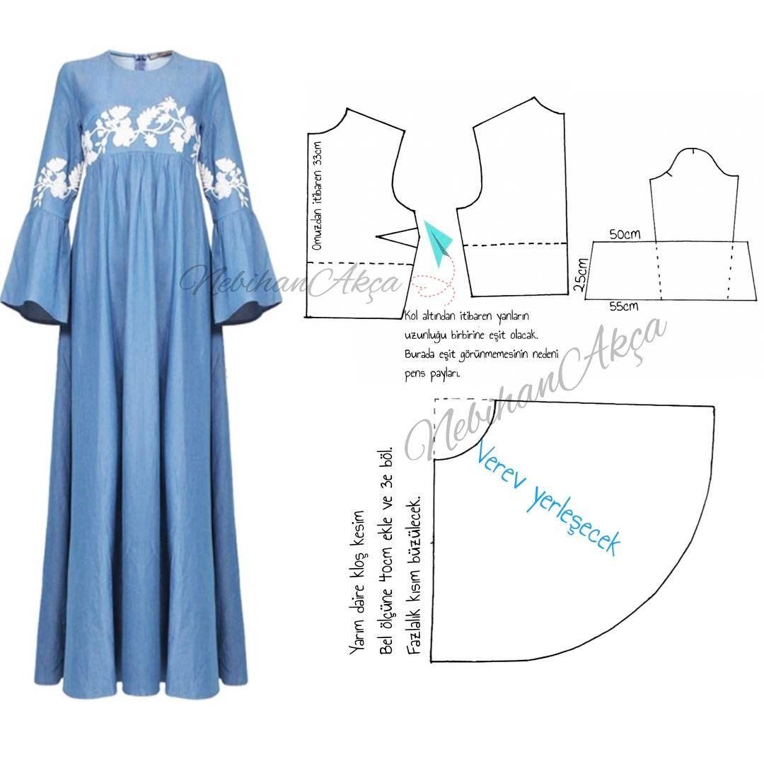 Nebihanakca Hayirli Geceler Ilk Gordugum Andan Beri Begendigim Bir Elbisenin Kalibiyla Karsinizdayi Dress Sewing Patterns Clothing Patterns Dress Patterns