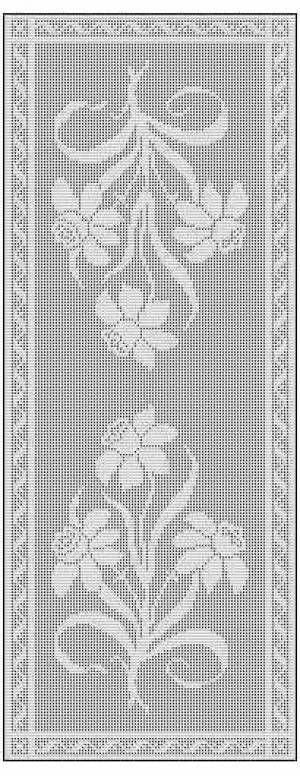 Filet Crochet Table Runner Free Chart Pattern Favorite Free