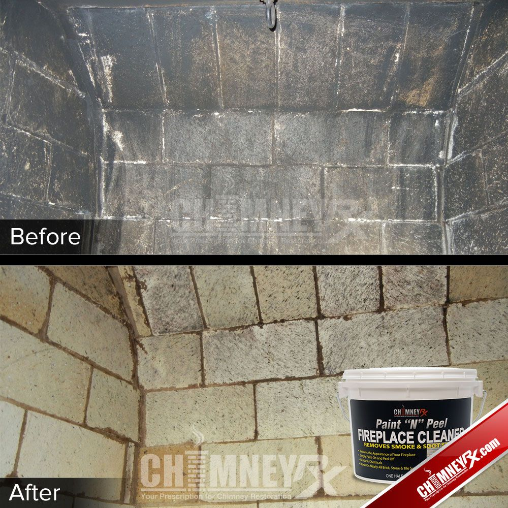 The inside of a firebox - before and after being cleaned with ...