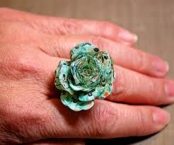 spiral paper flower rings - Google Search