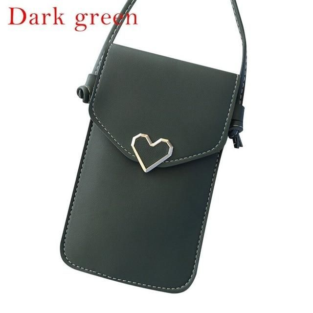 JODIMITTY Women Bag Touch Screen Cell Phone Purse Smartphone Wallet Leather Shoulder Strap Handbag Iphone X Samsung S10