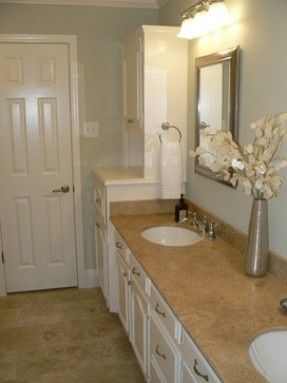 White Tan Blue Bathroom Google Search