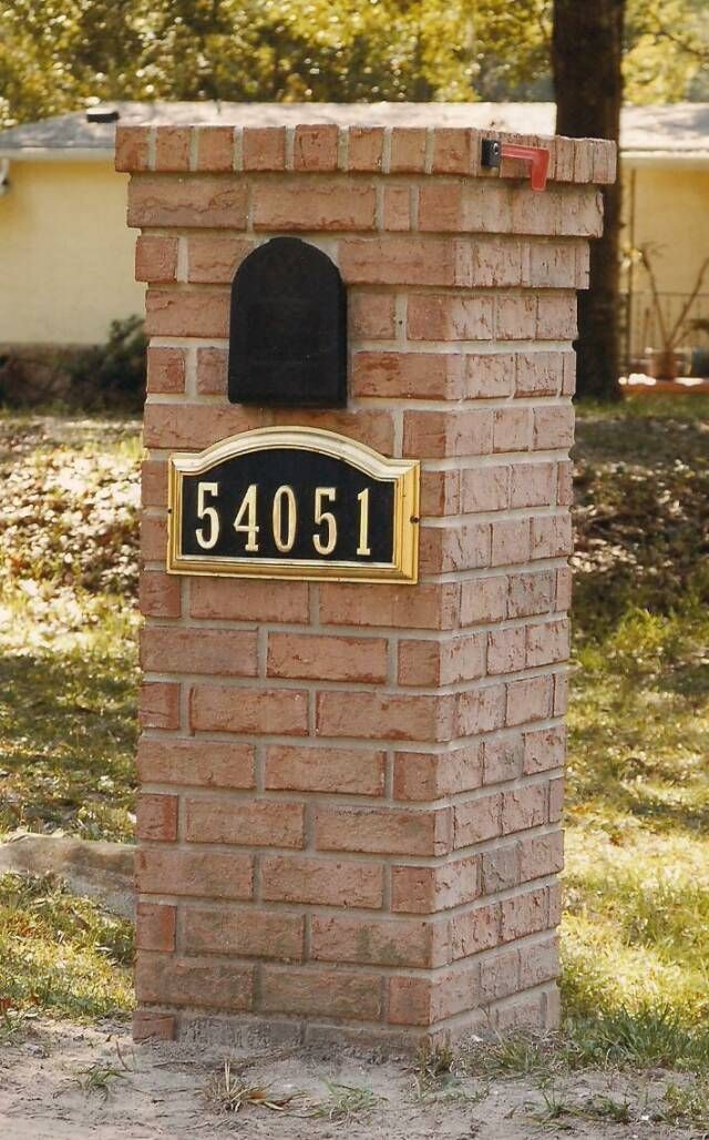 Woodwork Brick mailbox designs st louis Plans PDF Download Free ...