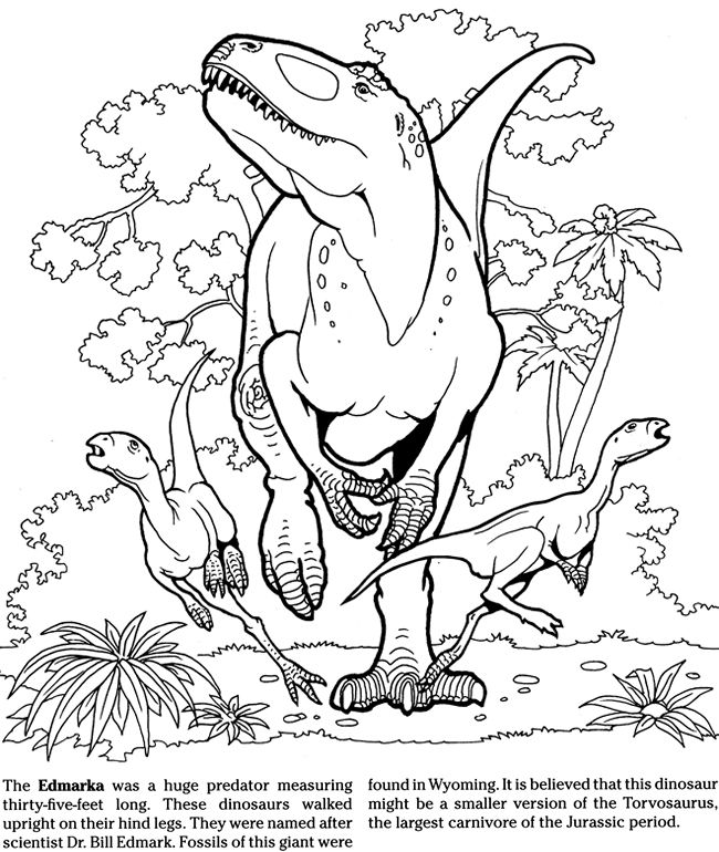 to Dover Publications Dinosaur coloring pages