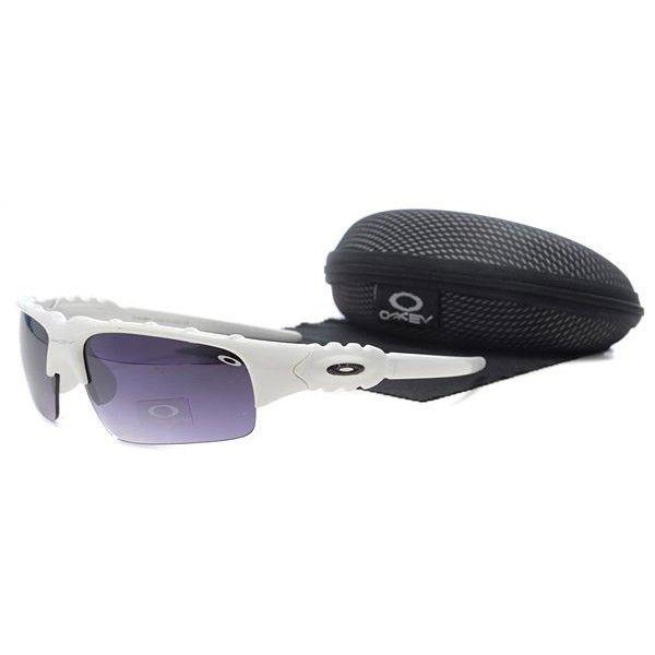 Oakley Flak Jacket Sunglasses Purple Lens White Frames-43670 ...