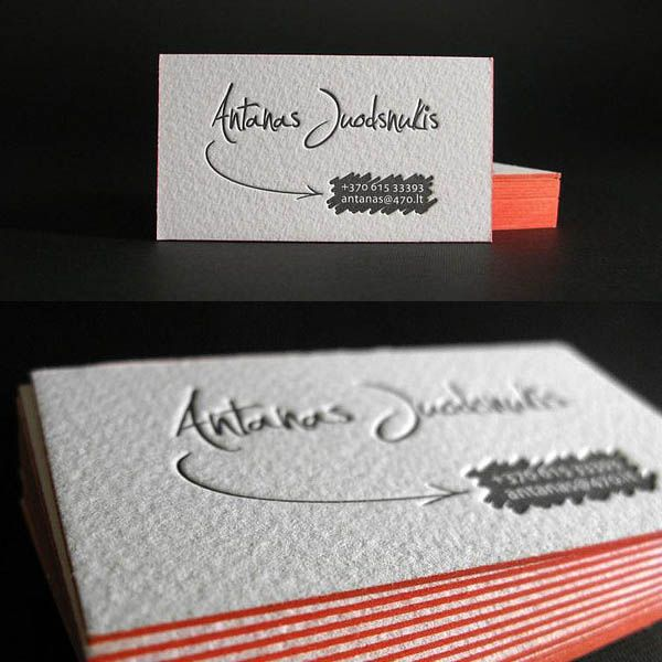 Letterpress business cards design Gadgetry Pinterest - letterpress business card