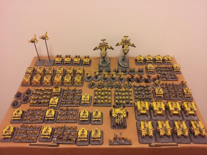 Space Marines: Imperial Fists  6mm epic with a few forumware