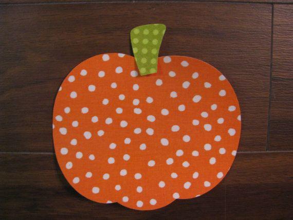 Fall Pumpkin Iron On Applique Add An Initial for by EllaBaDellas