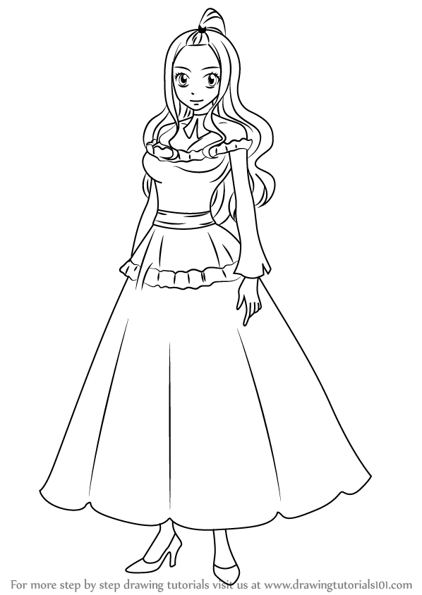 Learn How to Draw Mirajane Strauss from Fairy Tail (Fairy
