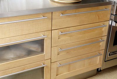 Cabinet Drawers And Doors | Long, Stainless Steel Handles Add Architectural  Interest To European .